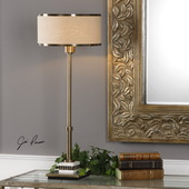 Koronia Antiqued Brass Lamp - LUT6335