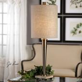 Ennell Antiqued Brass Lamp - LUT6339