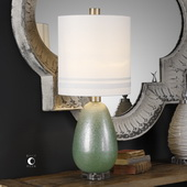 Aileana Rust Green Glass Lamp - LUT6347