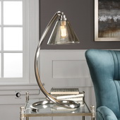 Amitola Coiled Nickel Lamp - LUT6353