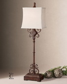 Cubero Brown Buffet Lamp  - LUT3806
