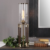 Rostand Wood Column Lamp - LUT6365