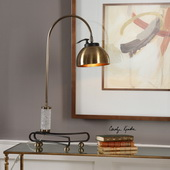 Scalino Brass Plated Arch Lamp - LUT6377