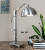 Malcolm Brushed Nickel Desk Lamp - LUT2891