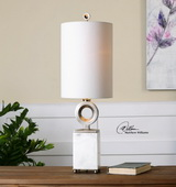 Palos White Alabaster Buffet Lamp - LUT2895