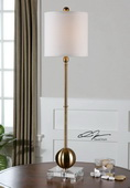 Laton Brass Buffet Lamp  - LUT7130