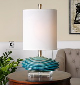 Talucah Teal Blue Table Lamp - LUT2909