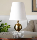 Laton Mini Brushed Brass Table Lamp - LUT2921