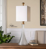 Ballina Fluted Glass Table Lamp - LUT2927