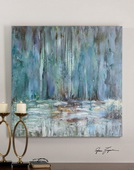 Blue Waterfall Art  - LUT7309