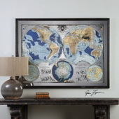 Mirrored World Map Art