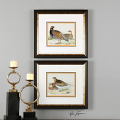 Pair Of Quail Framed Prints S/2 - LUT2967