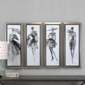 Fashion Sketchbook Art Set of 4