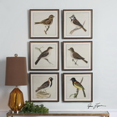 Spring Soldiers Bird Prints Art Set of 6