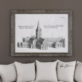 Salisbury Cathedral Architectural Print