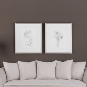 Botanical Sketches Art Set of 2