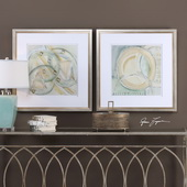 Abstracts Framed Prints Set of 2 - LUT6435
