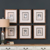 Small Breed Sketch Prints Set of 6 - LUT6447