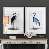 Shore Birds Framed Prints Set of 2 - LUT6453
