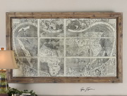Treasure Map Framed Art  - LUT7334