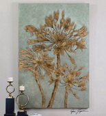 Golden Leaves Wall Art  - LUT7370