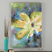 Blossom In Yellow Hand Painted Art - LUT3023