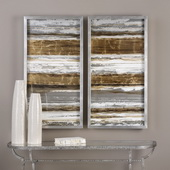 Metallic Layers Art Set of 2