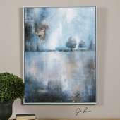 Lake At Dusk Hand Painted Art - LUT3087