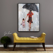 Splashing Hand Painted Art - LUT6539
