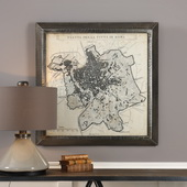 City Plan Of Rome Print Map - LUT6547