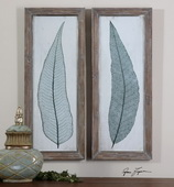 Tall Leaves Framed Art  - LUT7459