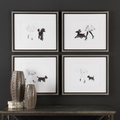 Perfect Companions Canine Prints Set of 4 - LUT6557