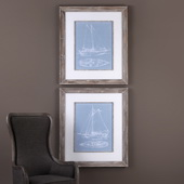 Yacht Sketches Set of 2 - LUT6565