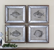 Mirrored Fish Framed Art  - LUT7479