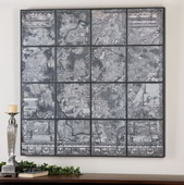 Antique Street Map Wall Art  - LUT7521