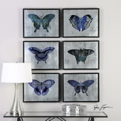 Vibrant Butterflies Art Set of 6