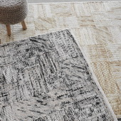 Junction Beige 5 X 8 Rug - LUT8694