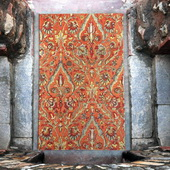 Keziah Burnt Red 5 X 8 Rug - LUT8775