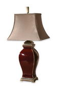 Rory Burgandy Table Lamp  - LUT2338