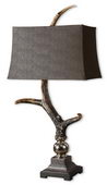 Stag Horn Dark Shade Table Lamp  - LUT3240