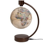 6in Antique Levitating Globe