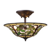 Tiffany Bronze Semi Flush - MEK2851