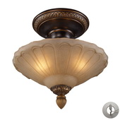 Golden Bronze Semi Flush - MEK2862