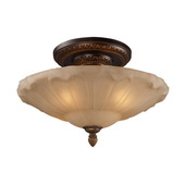 Golden Bronze Semi Flush - MEK2863