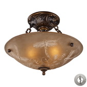 Golden Bronze Semi Flush - MEK2867