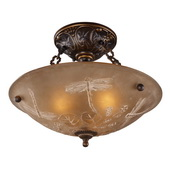 Golden Bronze Semi Flush - MEK2866