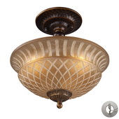 Golden Bronze Semi Flush - MEK2869