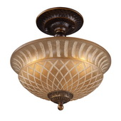 Golden Bronze Semi Flush - MEK2868