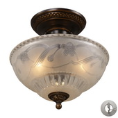 Golden Bronze Semi Flush - MEK2871