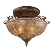 Golden Bronze Semi Flush - MEK2872